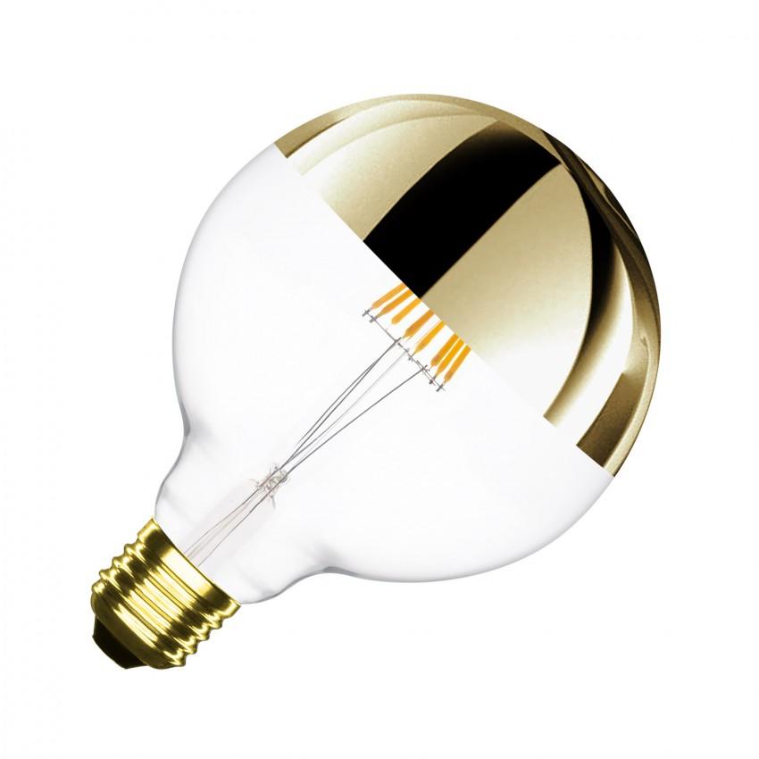 Lâmpada LED E27 Regulável Filamento Gold Reflect Supreme G125 6W