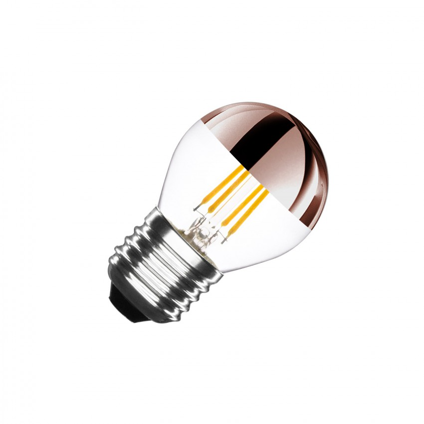 Bombilla LED E27 Regulable Filamento Copper Reflect Small Classic G45 4W