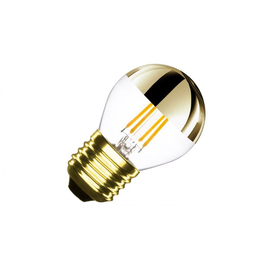 Bombilla LED E27 Regulable Filamento Gold Reflect Small Classic G45 4W