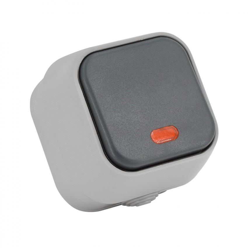 Interruptor Simple Pulsador com Indicador Luminoso IP54