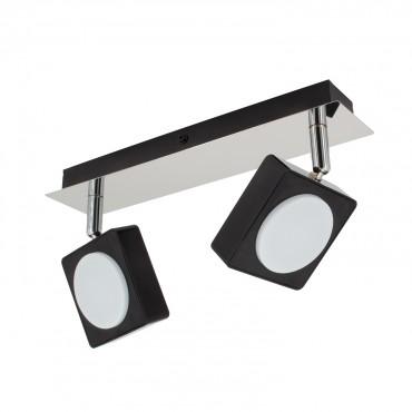 Foco LED Orientable Capri 2x6W Negro