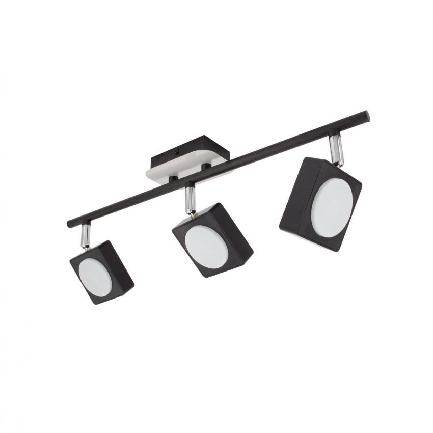 Foco LED Orientable Capri 3x6W Negro