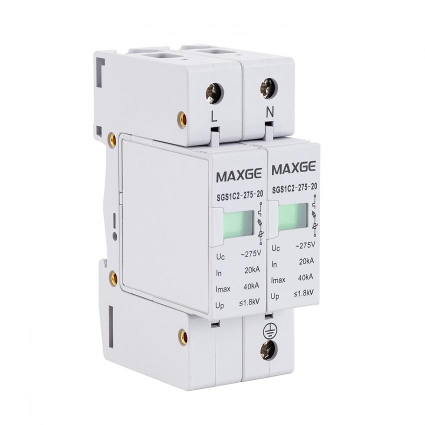 Protector Sobretensão Transitorias MAXGE 2P-Clase II-40kA-20kA-1,2kV