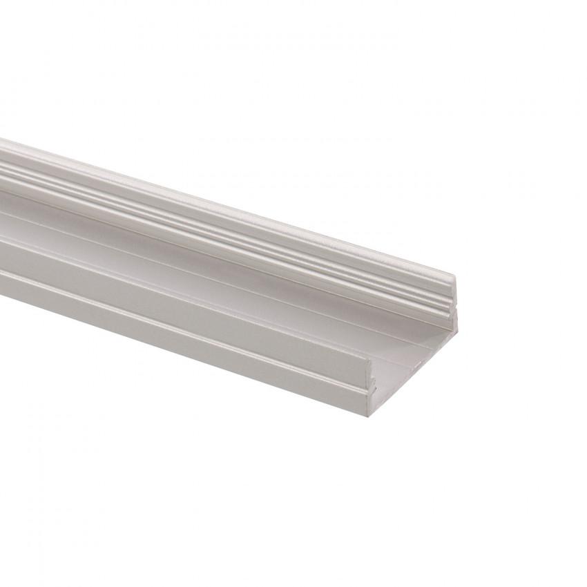 Perfil de Aluminio de Superficie 1m para Doble Tira LED