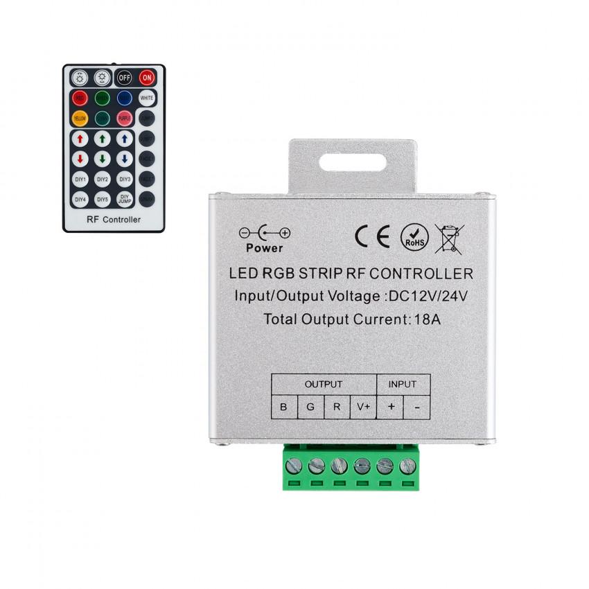 Controlador Fita LED RGB 12/24V,  Dimmer por Controle Remoto RF 28 Botões
