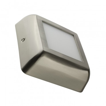 Placa Superfície LED Quadrada Silver Design 6W