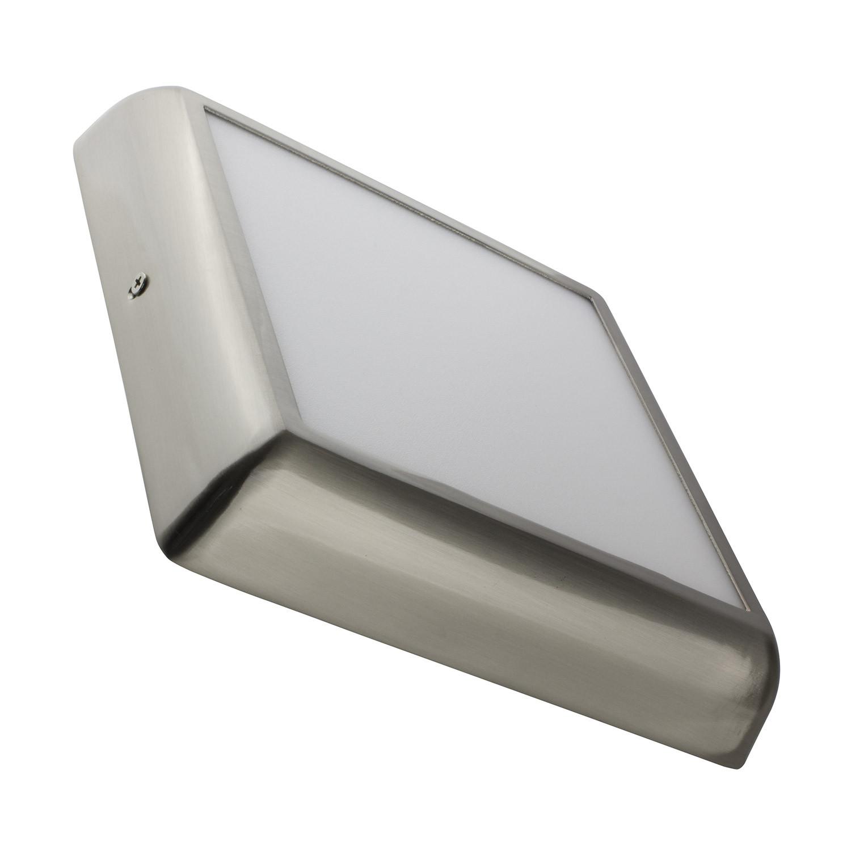 Placa Superfície LED Quadrada Silver Design 18W
