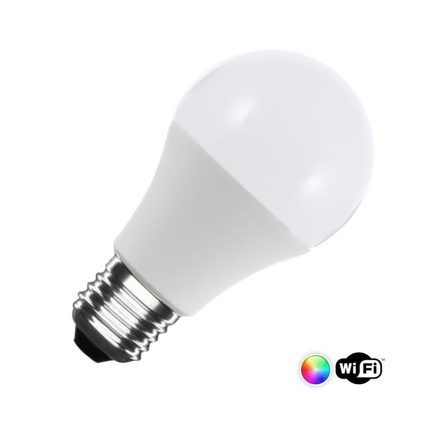 Bombilla LED RGBW Smart WiFi E27 A60 Regulable 6W