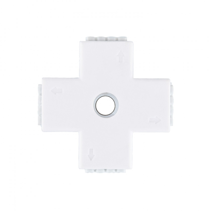 Conector Rápido Tipo 'X' Tira LED 12/24V RGB