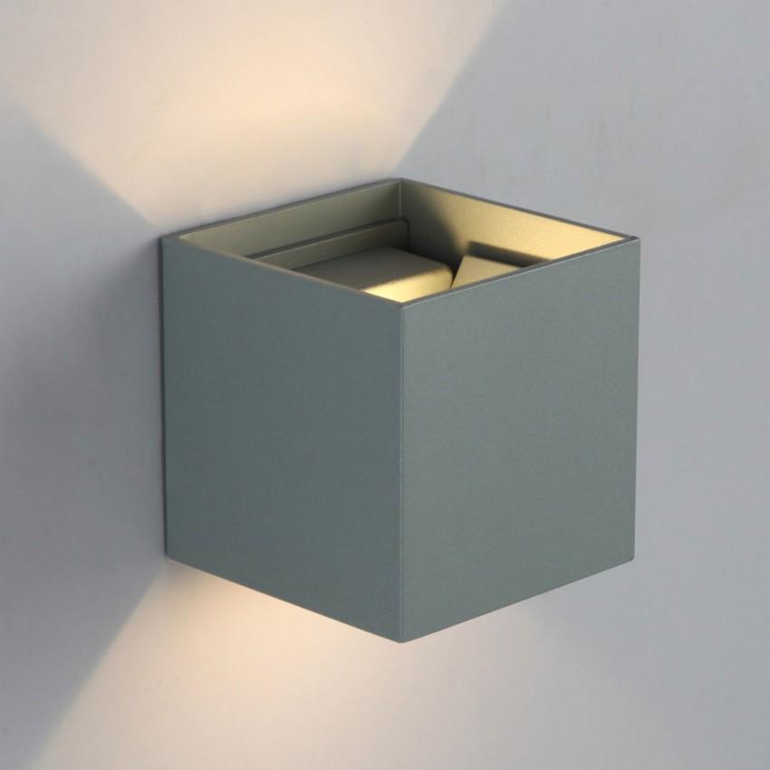 Aplique LED Eros 6W Cinzento Iluminação Dupla Cara