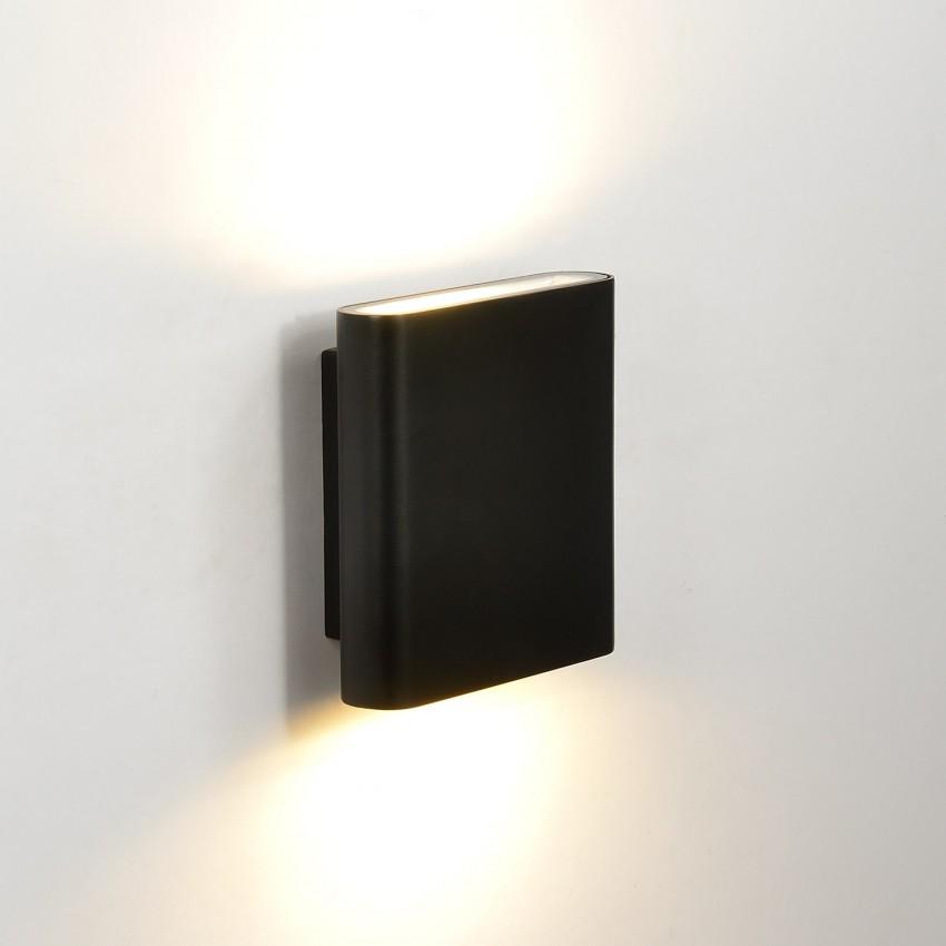 Aplique LED Vesta 12W Preto Iluminação Dupla