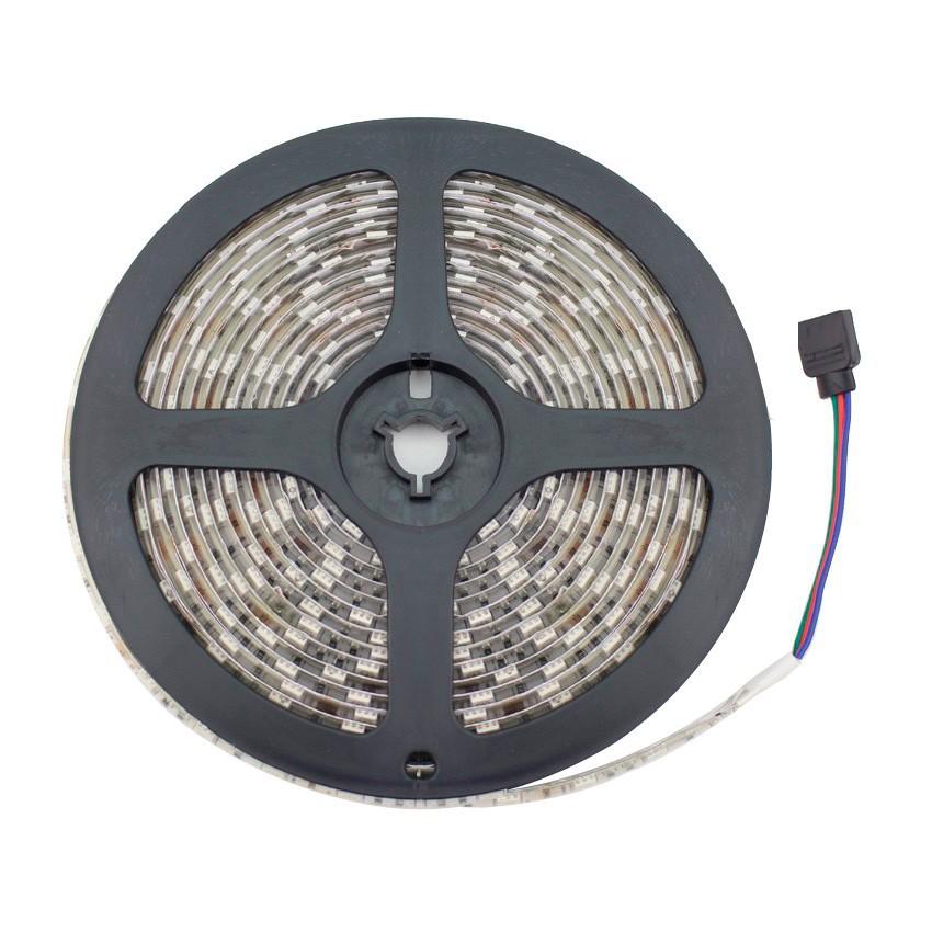 Kit Fita LED 12V DC SMD5050 60LED/m RGB IP20 com Fonte de Alimentação e Controlador