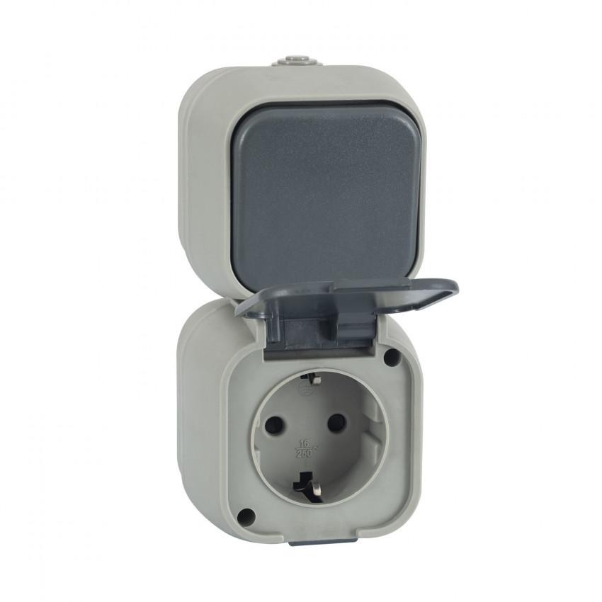 Interruptor Simple Conmutado y Enchufe tipo F Schuko IP54