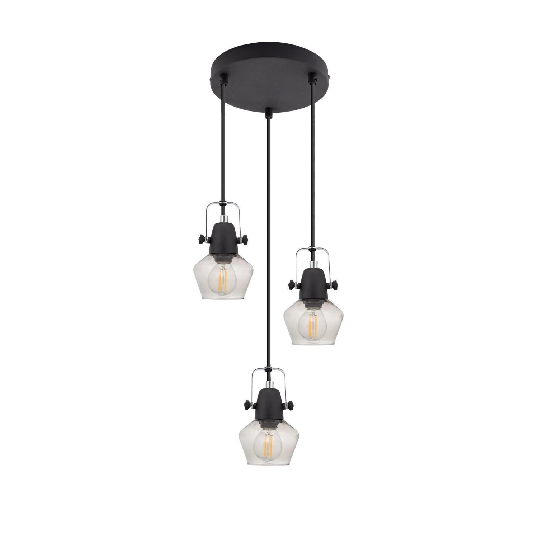 Lámpara Colgante Sipi 3 Focos Negro