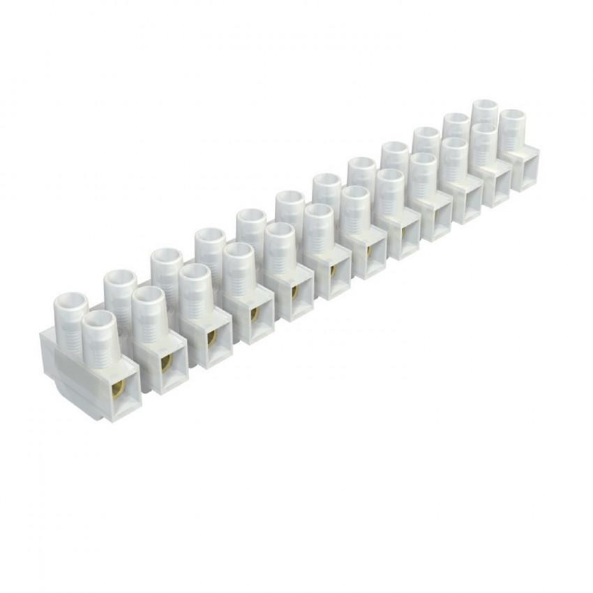 Bloco de terminais de 12 conectores de cabos elétricos