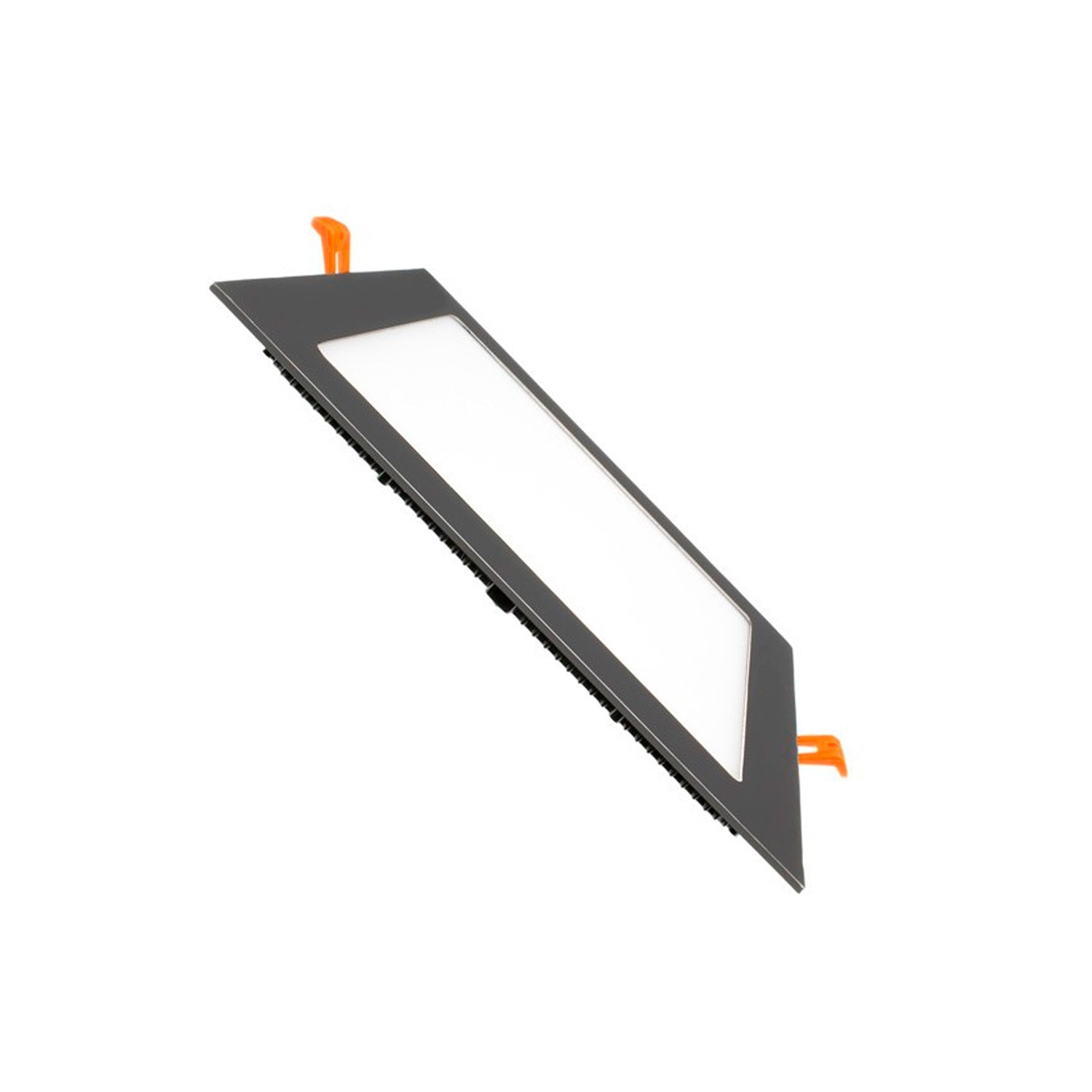 Comprar Placa LED Cuadrada SuperSlim 12W Marco Negro - efectoLED