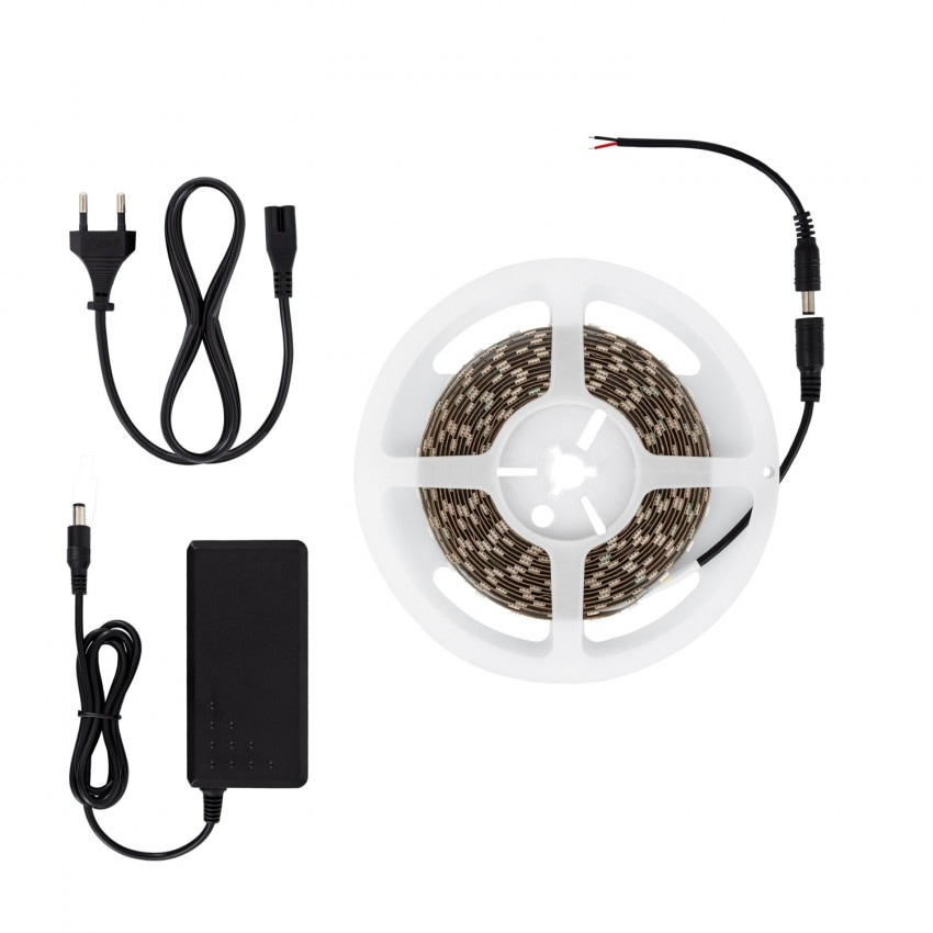 Kit Tira LED 12V 70W 60LED/m 5m IP20 con Fuente de Alimentación