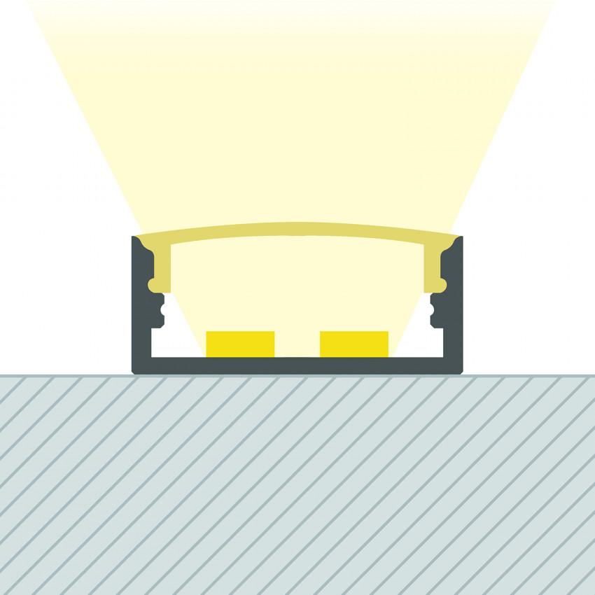 Perfil de Aluminio Superficie 1m para Doble Tira LED hasta 20 mm
