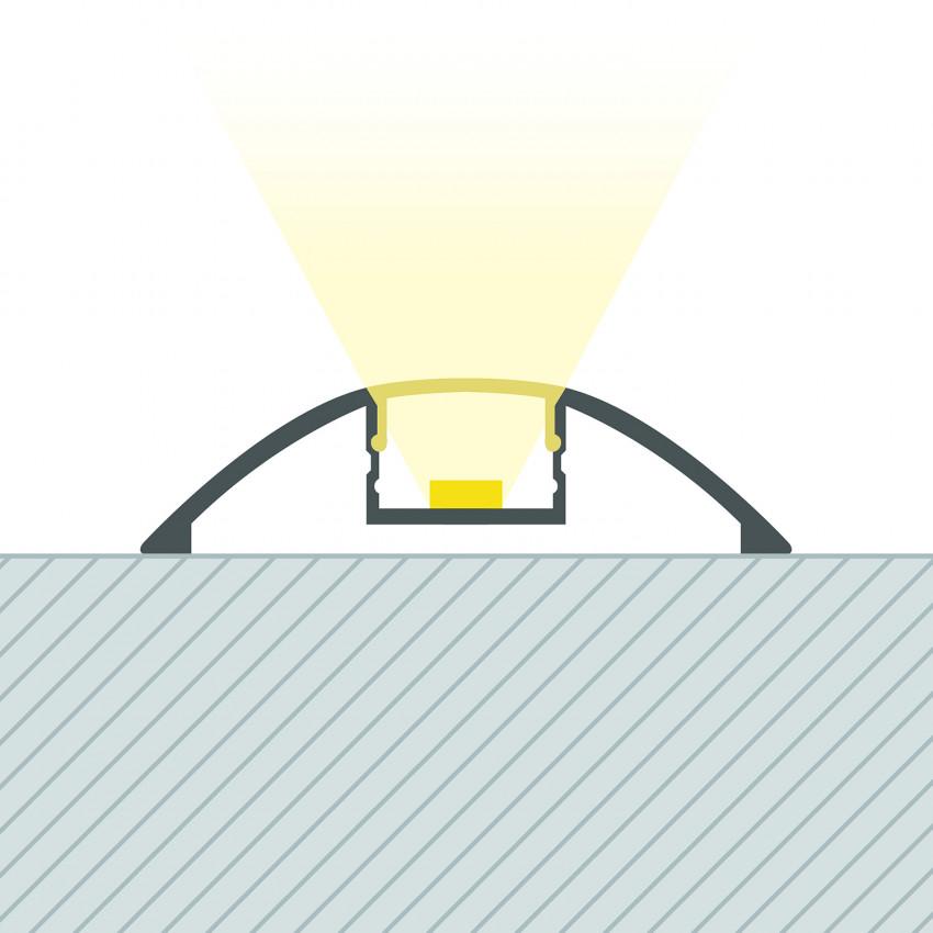 Perfil de Aluminio 1m para Tira LED 12V IP20 P7