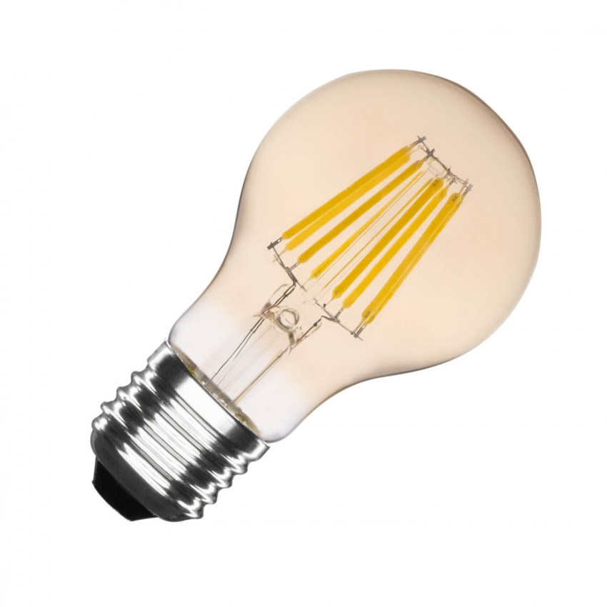 Lâmpada LED E27 Filamento Gold A60 6W