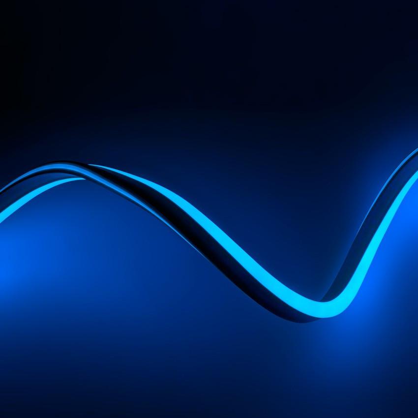 Tira Neón LED Regulable 220V AC 120 LED/m Azul a Medida
