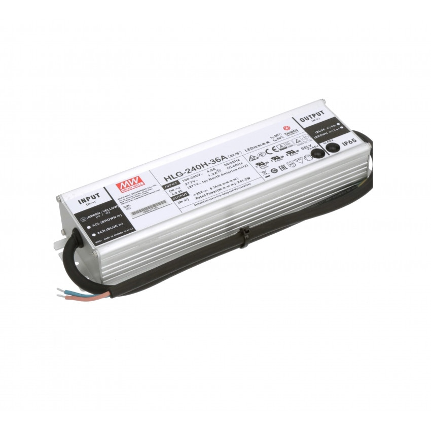 Driver MEAN WELL HLG-240H-36A IP65 Salida 36V DC 240W