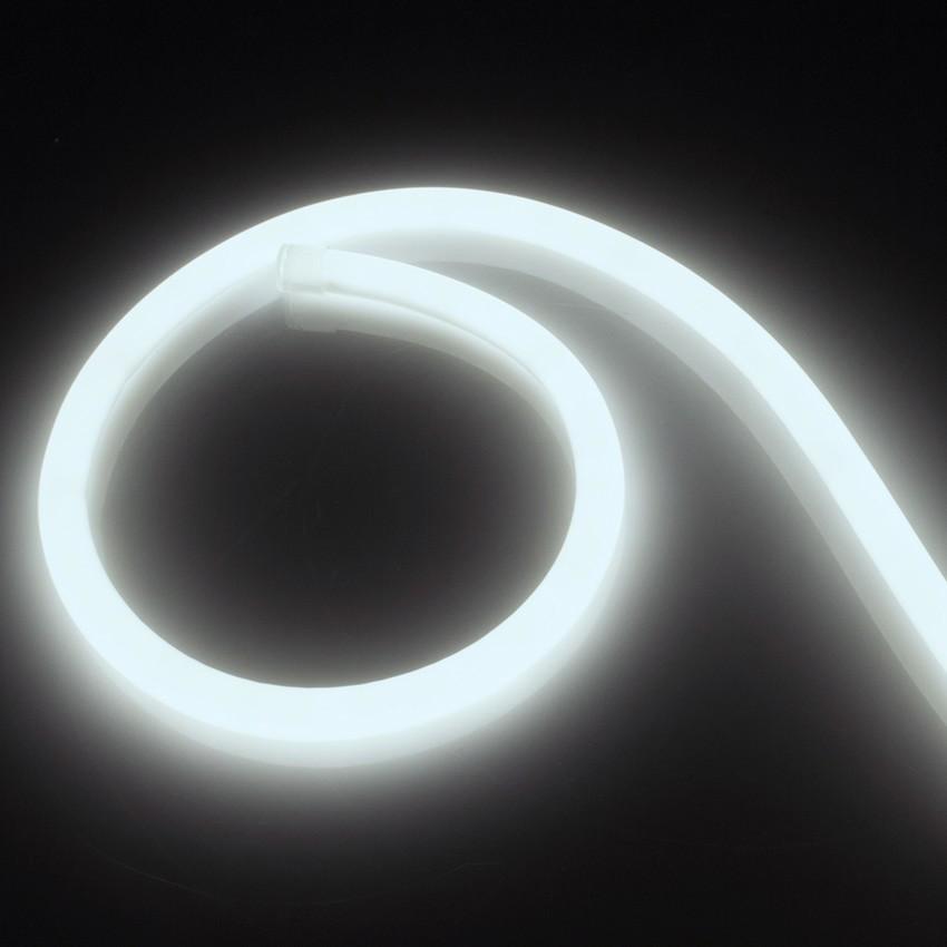 Fita Neon LED Regulável 220V AC 120 LED/m Circular 360 Branco Frio IP67 à Medida