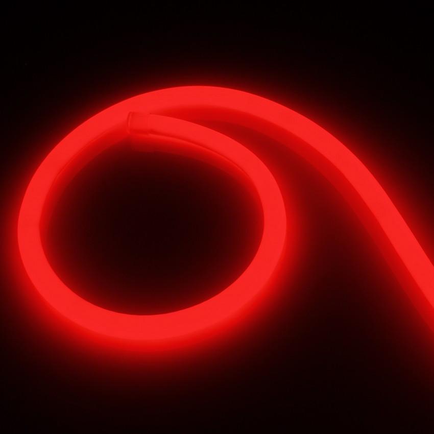 Fita Neon LED Regulável 220V AC 120 LED/m Circular 360 Vermelho IP67 à Medida