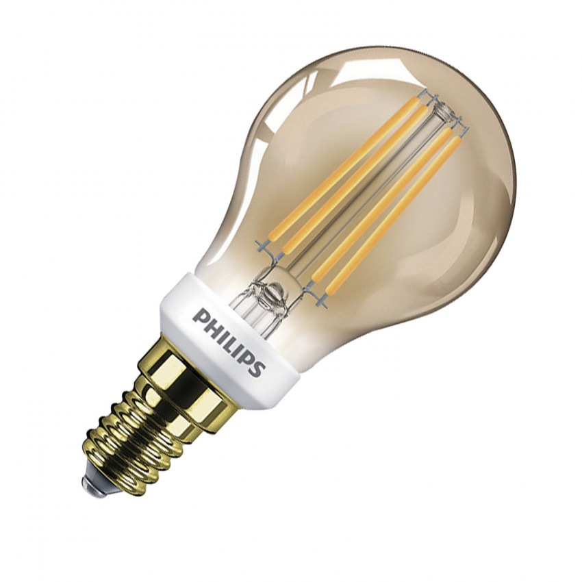 Bombilla PHILIPS LED Luster E14 P45 5 W Gold
