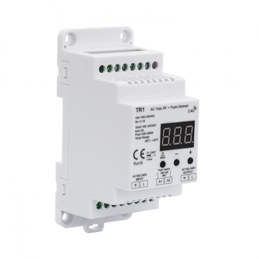 Regulador Universal LED Triac RF para Carril DIN