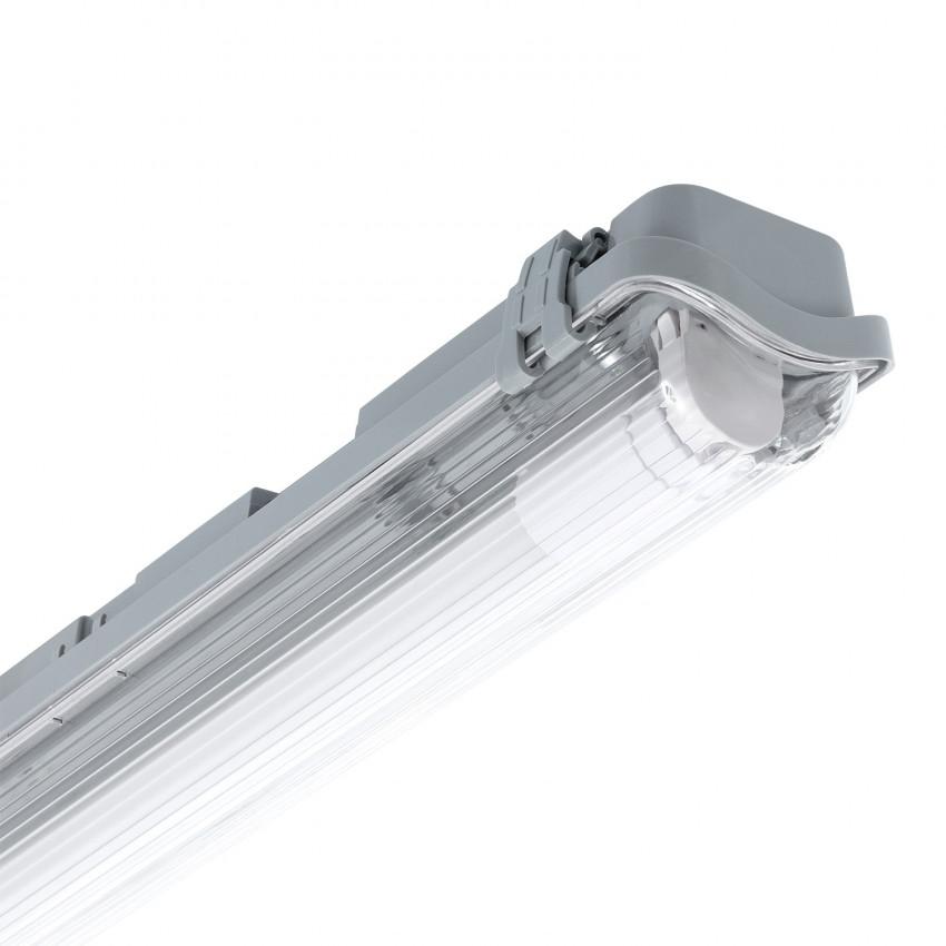 Armadura Hermética Slim para um Tubo de LED 600mm PC/PC Conexão Uni-Lateral