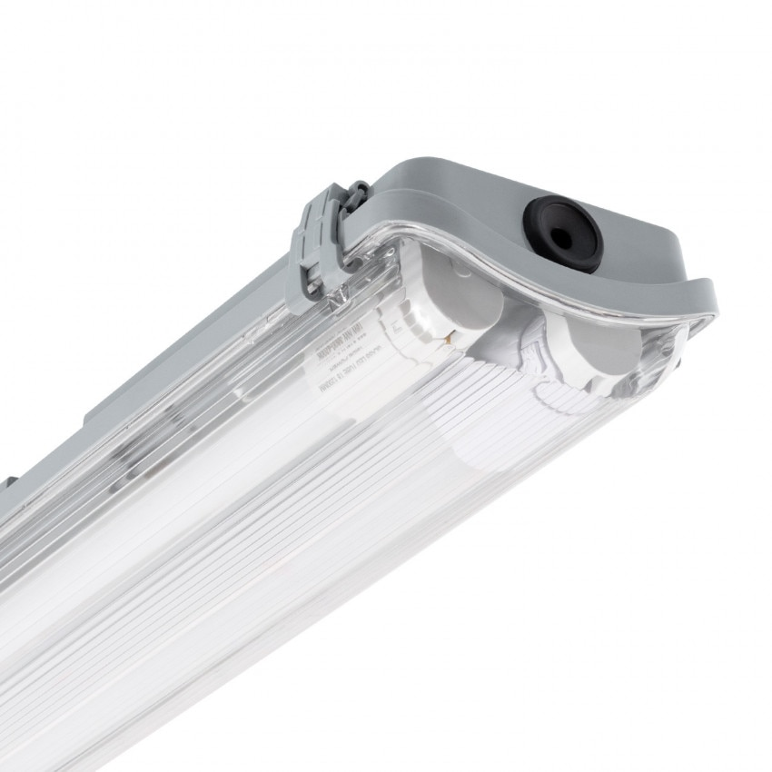 Kit Armadura Hermética Slim com dois Tubos LED 600mm Conexão Uni-Lateral