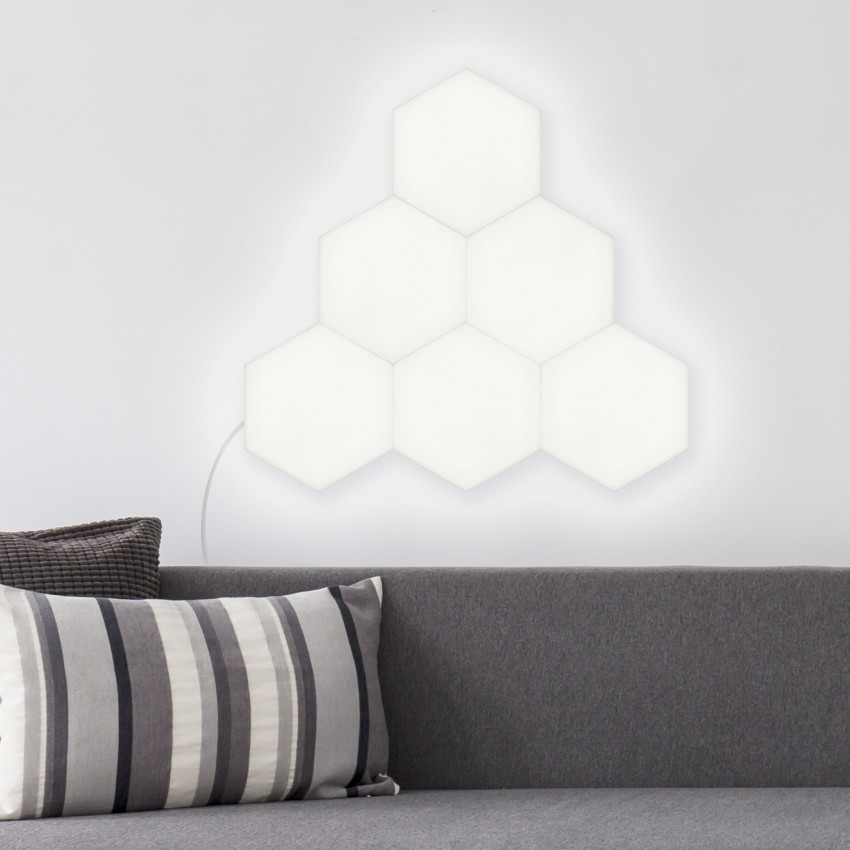 Panel LED Hexagonal 9x9cm 3.5W 200lm Base Principal