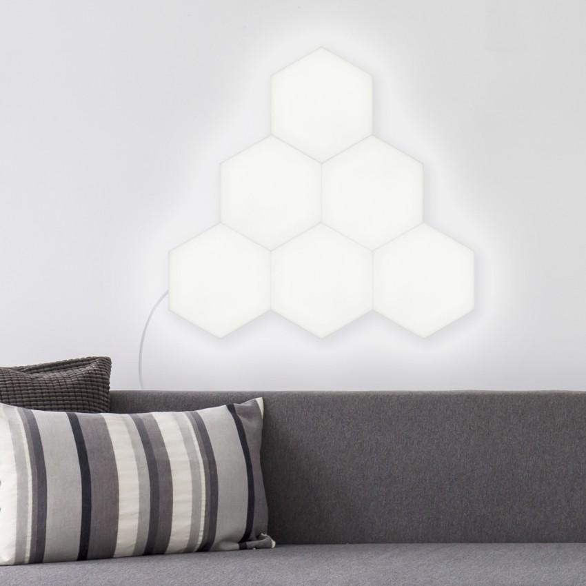 Painel LED Hexagonal 18x18cm 9.5W 800lm Extensão