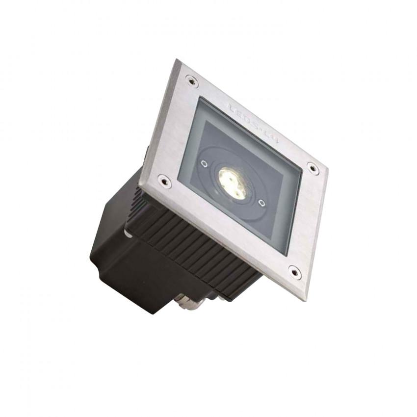 Foco LED Quadrado de Chão Gea Power 6W IP67 LEDS-C4 55-9723-CA-CL