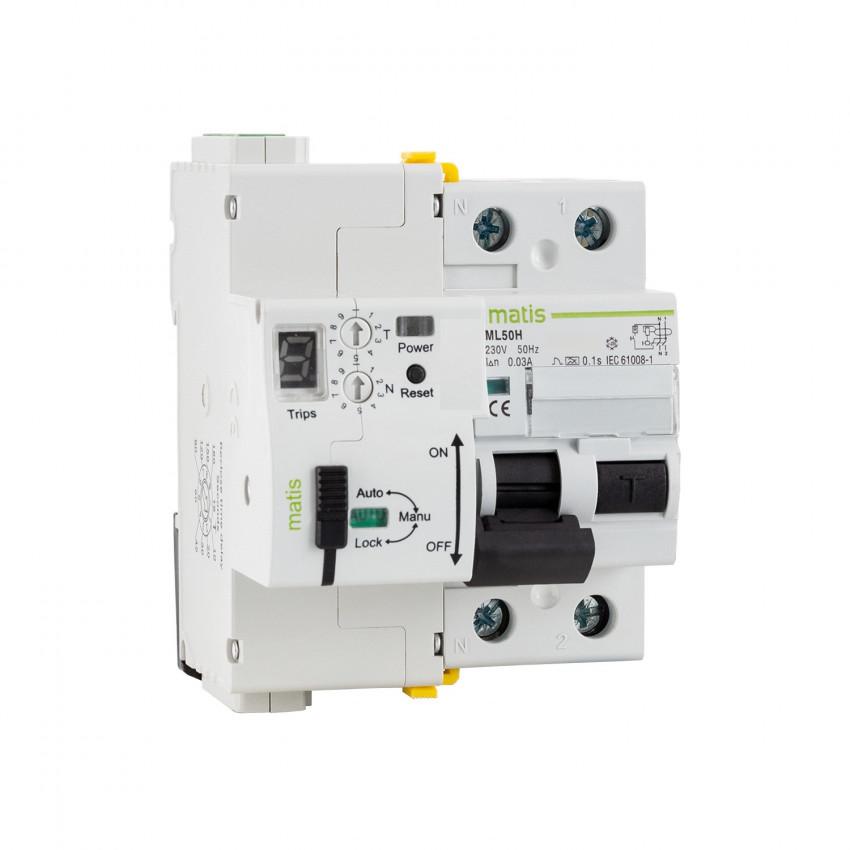 Interruptor Diferencial Rearmable MAXGE 2P-63A-30mA-10kA