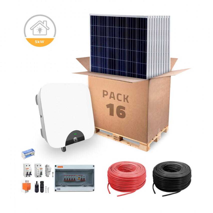 Kit Auto-Consumo HUAWEI Para Casa Grande Conexão á Rede Híbrido 5KW