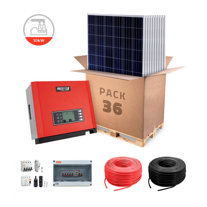 Kit Pequeno Auto-Consumo Trifásico para Empresa Pequena Conexão á Rede 10KW