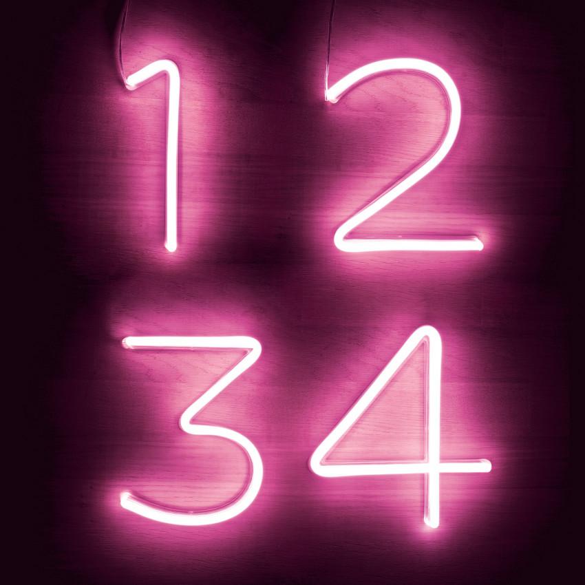Números e Simbolos Néon LED Rosa
