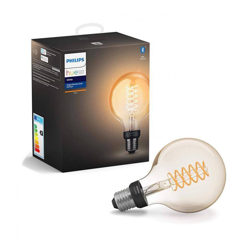 Bombilla LED E27 Filamento PHILIPS Hue White G93 7W