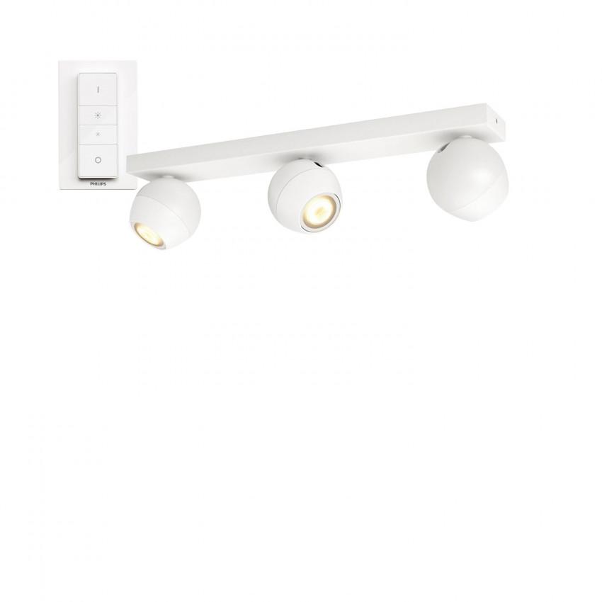 Aplique de Tecto LED CCT PHILIPS Hue White Ambiance Buckram 3 Focos 15W