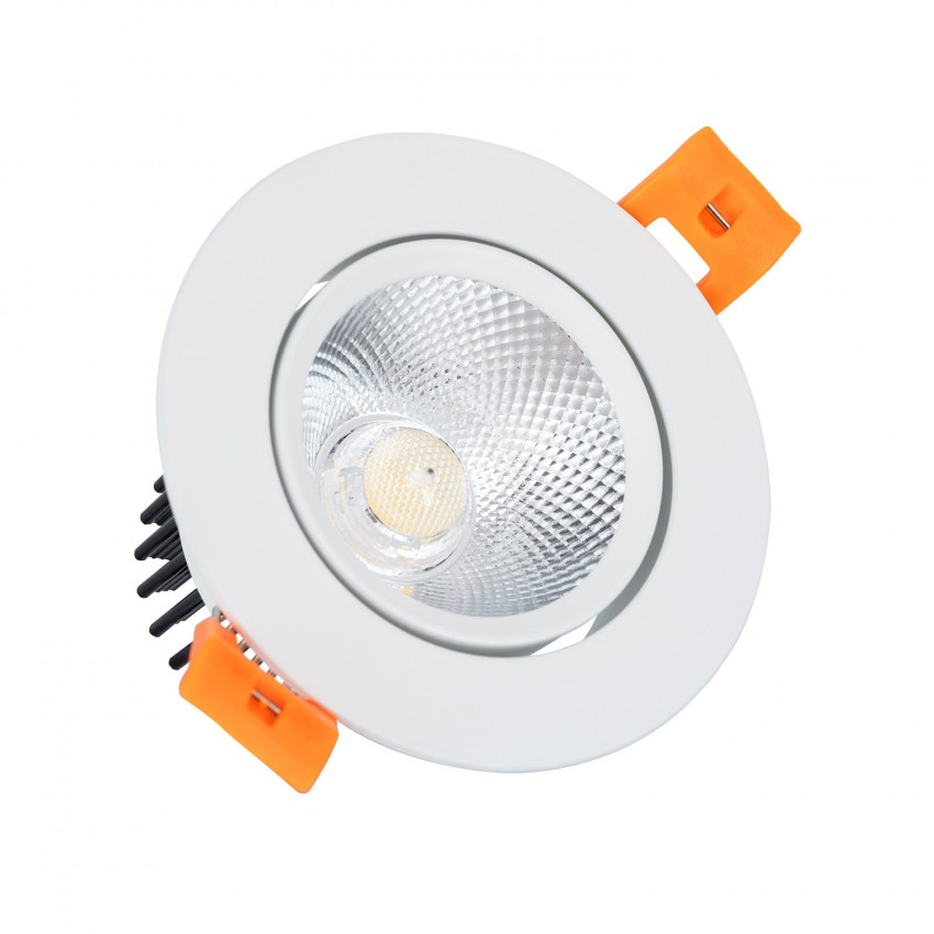 Foco Downlight LED 7W COB Direccionable Circular (UGR19) Blanco Corte Ø 70 mm