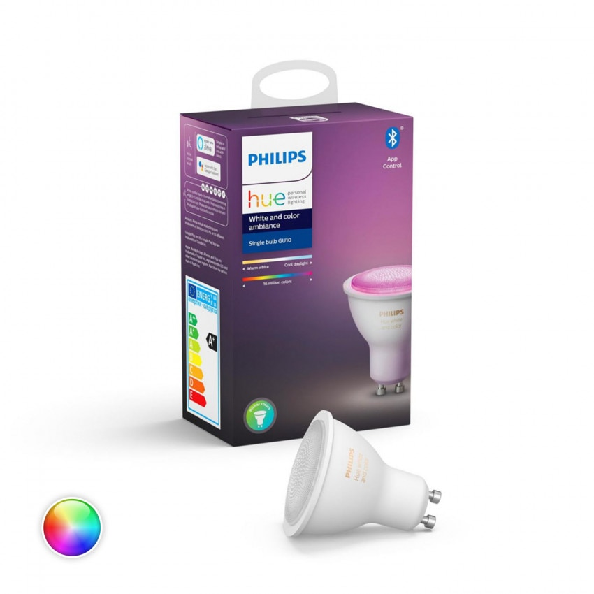 Bombilla LED GU10 RGBW PHILIPS Hue White Color 6W