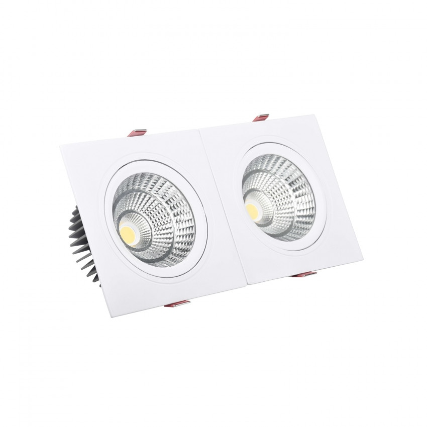 Foco Downlight LED Retangular Duplo New Madison 10W Corte 165x75 mm