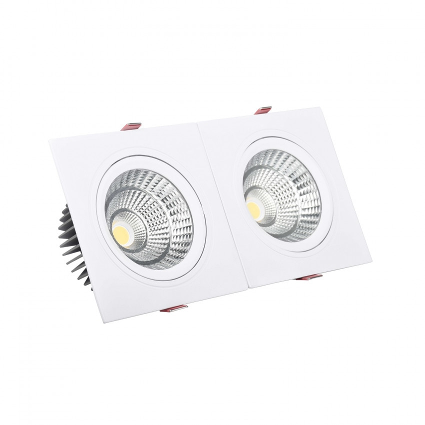 Foco Downlight LED Retangular Duplo New Madison 20W Corte 205x90 mm