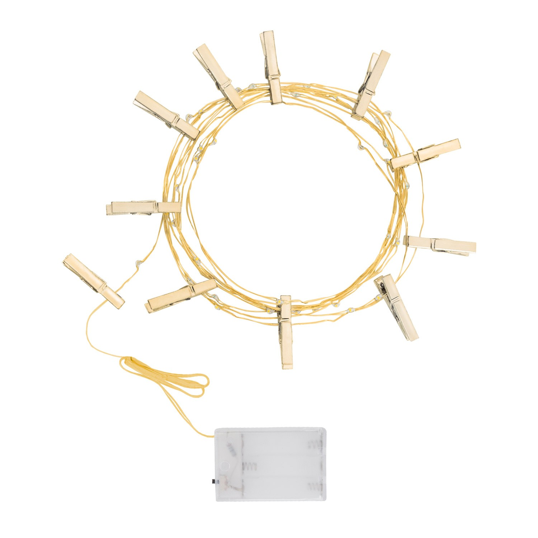 Grinalda LED de Molas Dourada - efectoLED 0eb02431fc