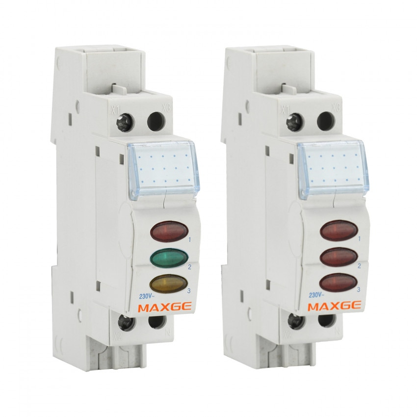 Indicador Luminoso Triplo LED MAXGE Alpha+ EPSLT 230VAC