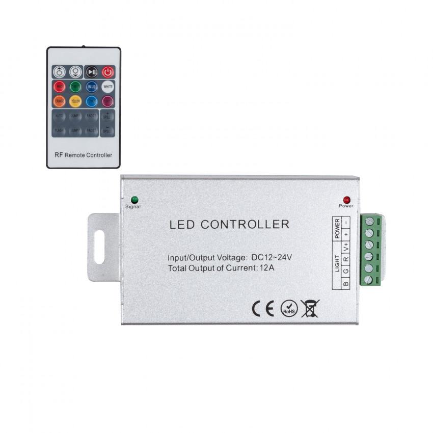 Controlador Fita LED RGB 12/24V,  Dimmer por Controlo Remoto RF 20 Botões