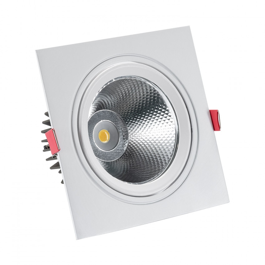 Foco Downlight LED COB Quadrado New Madison 15W (UGR19) Corte Ø 115 mm