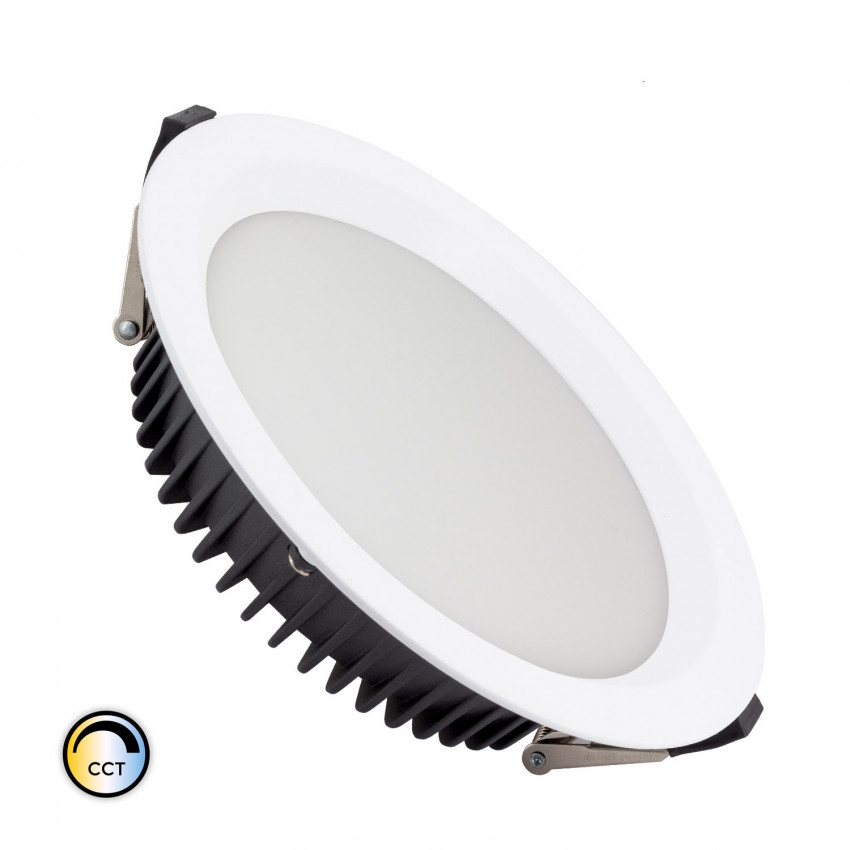 Downight LED New Aero Slim CCT Seleccionável 30W (UGR19) LIFUD Corte Ø 185 mm